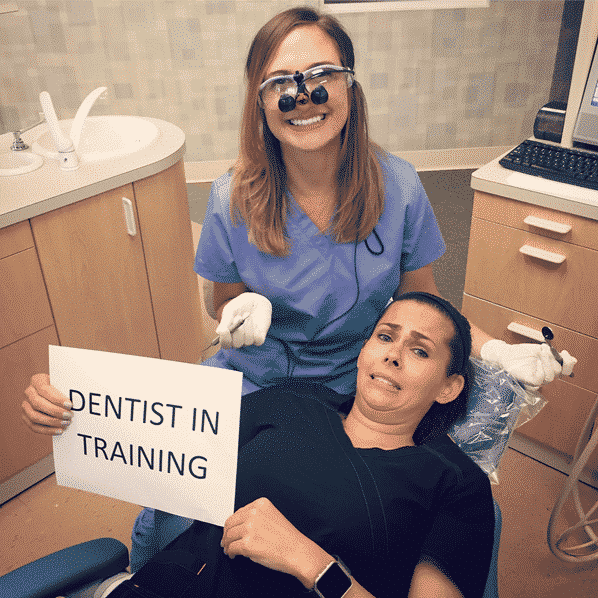 Dental hygienist in training at River Oak Dental