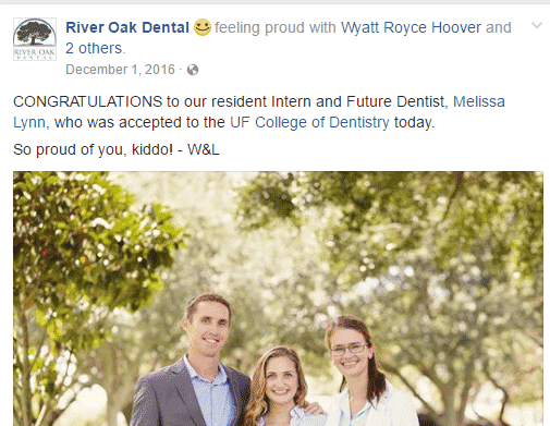 Three smiling people with bright, healthy teeth.