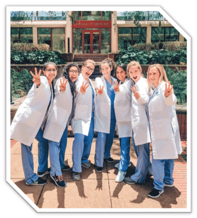 Dentistry students posing for a photo in Palm Bay FL