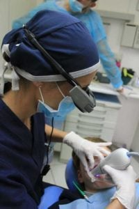 River Oak Dentist Performing Teeth Whitening